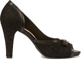 Traditional dirndl shoe 6015 black