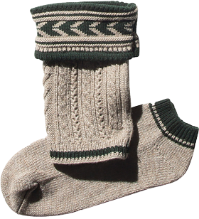 Loferl set with socks 36011 brown/forest