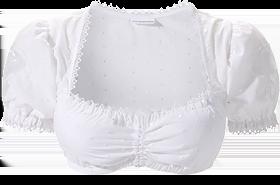 Traditional dirndl blouse B3025 white