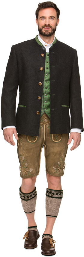 German traditional jacket Maximilian anthracite